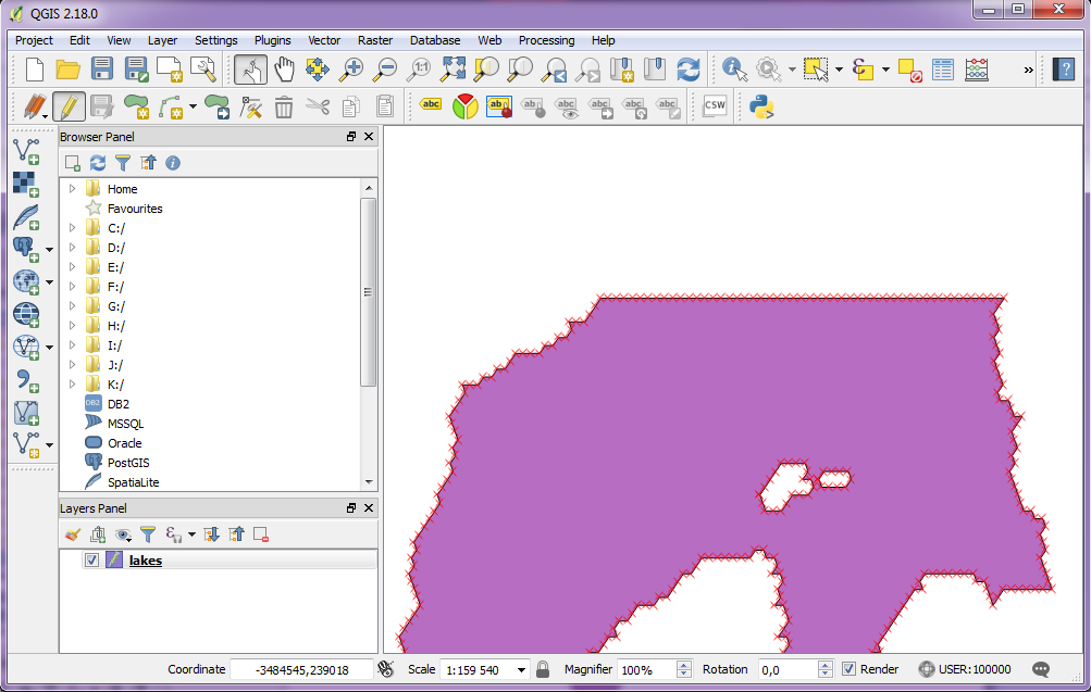 Manually editing features in QGIS | Forged Maps
