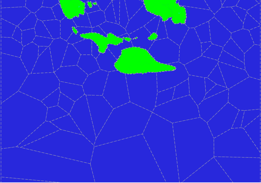 Voronoi polygons